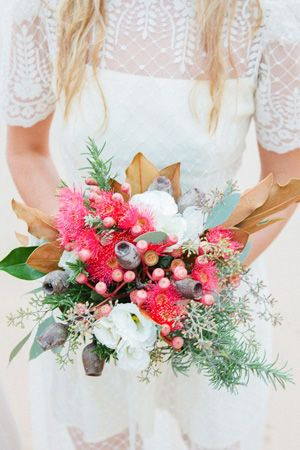australian natives bouquet - brides of adelaide magazine - wedding bouquet