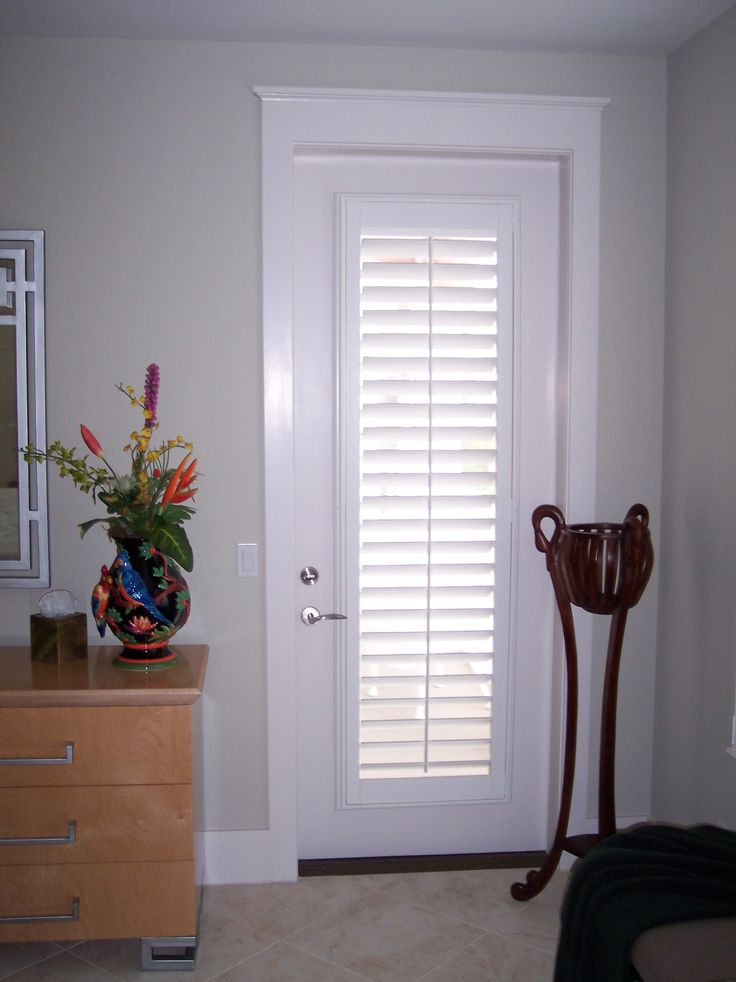 123 best plantation shutters images on pinterest blinds for Door window shades blinds