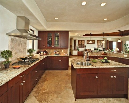 Dark wood kitchen design pictures remodel decor and for Kitchen design normal