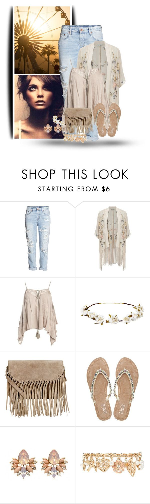 """Ripped Jeans & Flip Flops Template"" by majezy ❤ liked on Polyvore featuring Miss Selfridge, Sans Souci, Cult Gaia, Accessorize, M&Co and Forever 21"
