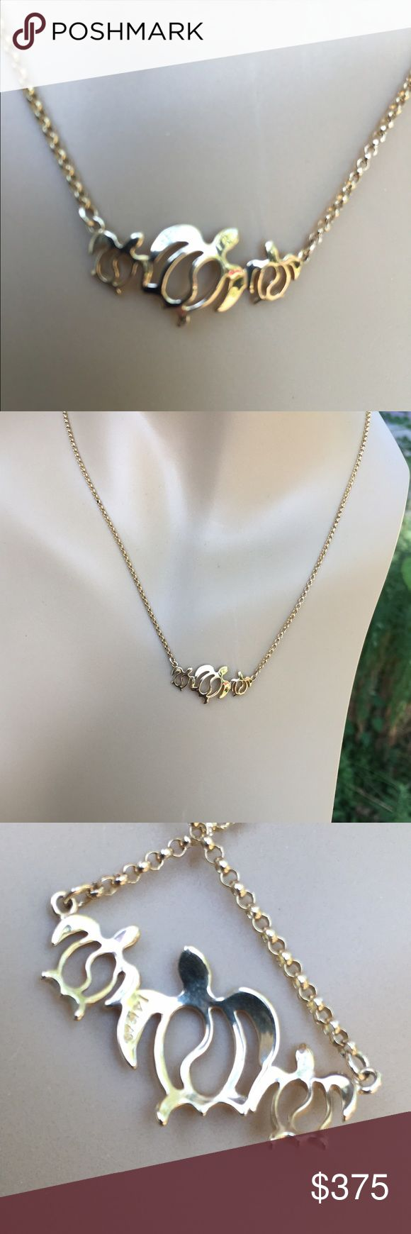 "14K Gold Honu Necklace Price Firm  Beautiful 14K gold 17"" necklace from Maui Divers Jewelry in Hawaii. Perfect condition. Not eligible for bundle discount. Maui Divers Jewelry Jewelry Necklaces"