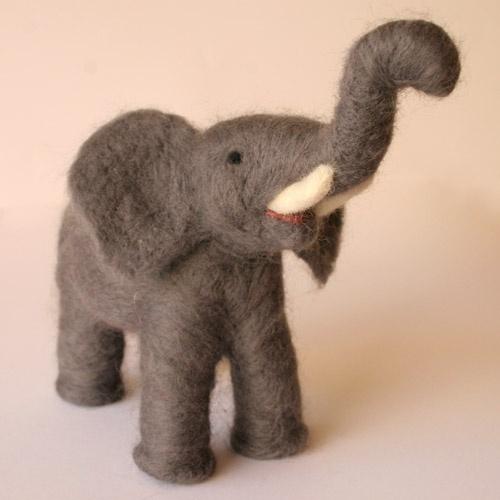 felted elephant