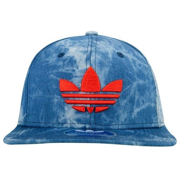 adidas Mixed Acid Wash Denim Snapback Cap ($26) ❤ liked on Polyvore featuring accessories, hats, adidas snapback, snap back hats, cap snapback, snap back caps and adidas hats