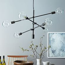 adjustable in multiple finishes  Multiples with various lamp sizes can be cool... Mobile Pendant - Antique Bronze