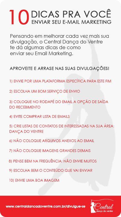 Email Marketing é uma ferramenta de divulgação na internet onde se envia por email propaganda e/ou conteúdo a um grupo de pessoas (mailing). #dancadoventre #centraldancadoventre #quemvivedadanca #divulgacaodancadovente