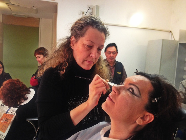 In this ballet music, voice and dance are mixed together. Mezzo-soprano Ekaterina Semenchuk, here at the make-up. Pic from Roméo et Juliette live tweeting @teatroallascala