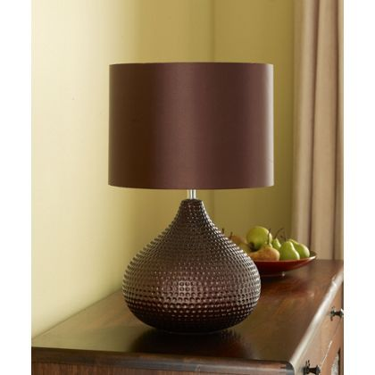 Hannah Table Lamp - Chocolate - 50cm at Homebase -- Be inspired and make  your