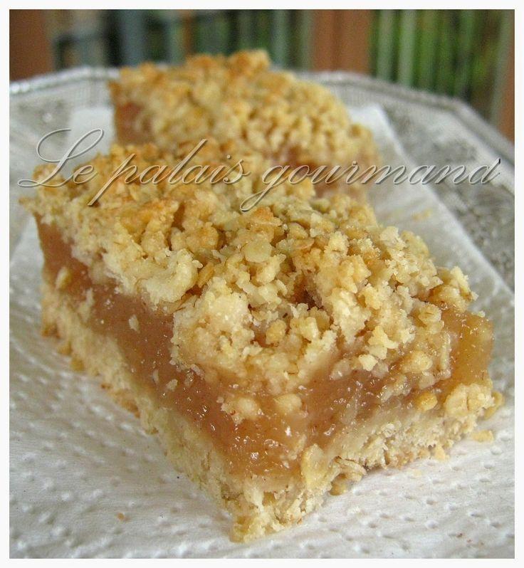 Envie d'un bon dessert aux pommes mais hélas vous en avez pas sous la main....pas grave car ce délicieux dessert n'en requiert pas et est fait qu'avec de la bonne compote. MerciLes plats cuisinés de EstherB, pour ce bon dessert.Croustillant à l'avoine:1 1/4 tasse de flocons d'avoine à cuisson rapid