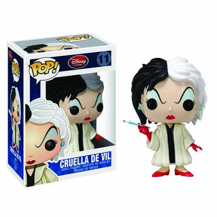 Cabezón 101 Dálmatas. Cruella de Vil, Pop Disney. Funko Cabezón perteneciente a Cruella de Vil, la malvada protagonista delcuento de Disney, 101 Dálmatas.