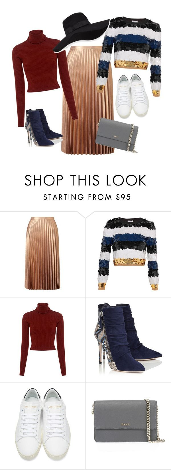 """from date to park"" by katkaaa on Polyvore featuring Miss Selfridge, Sonia Rykiel, A.L.C., Yves Saint Laurent, DKNY and San Diego Hat Co."