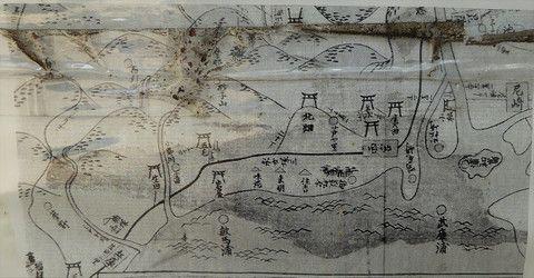무로마치시대 지도 미누메노우라