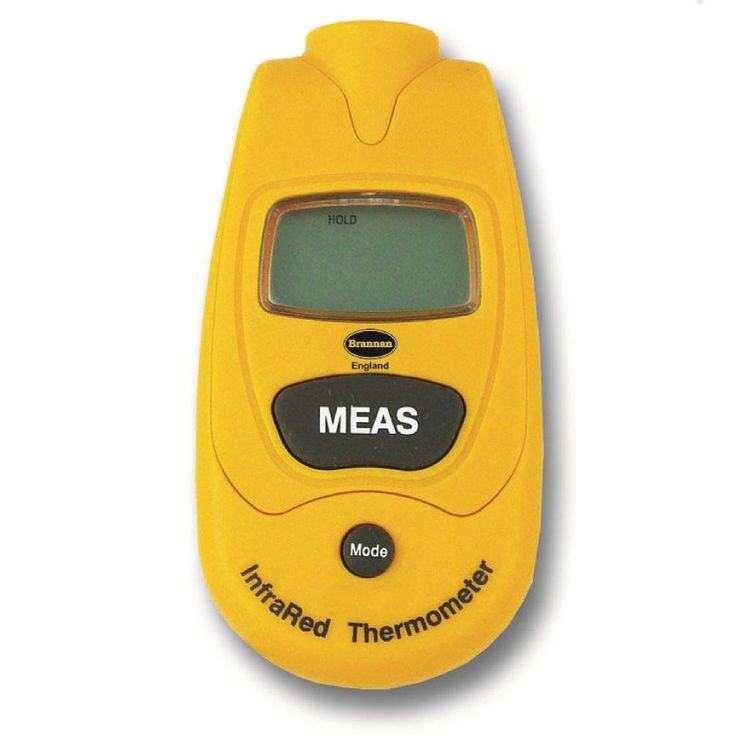 A quick and easy infrared thermometer providing safe temperature measurement where non-contact access is required. Supplied complete with wrist strap, clip-out stamp and storage pouch.