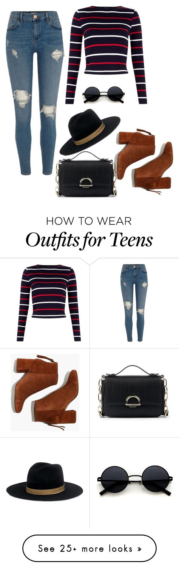 """""""Sin título #469"""" by andreacpachon on Polyvore featuring Madewell, River Island, Janessa Leone and Sole Society"""