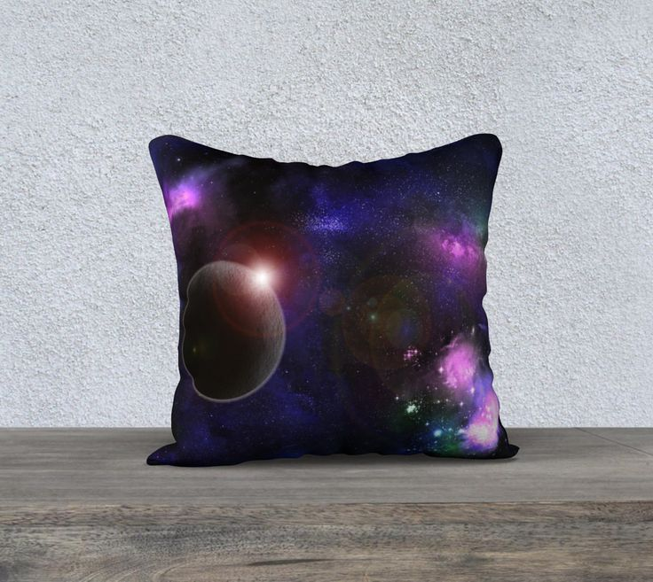Decorative Cushion Cover - Galaxy - Universe - Space print - Home Decor - Throw Pillow - 5 sizes available by Traceyleeartdesigns on Etsy