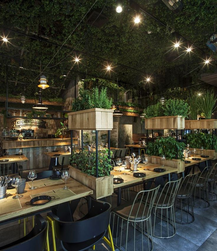 Adorable Home - Segev Kitchen Garden - natural restaurant interior...