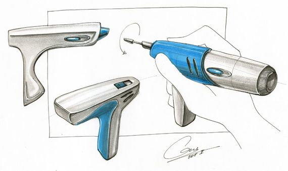 electric hand tool sketch, electric hand tool drawing, electric hand tool concept