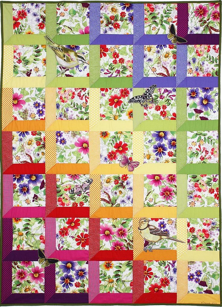 Verity Quilt -Just in case you don't have enough to inspire you, this is a WHOLE PAGE full of free quilt patterns! by Michael Miller fabrics.