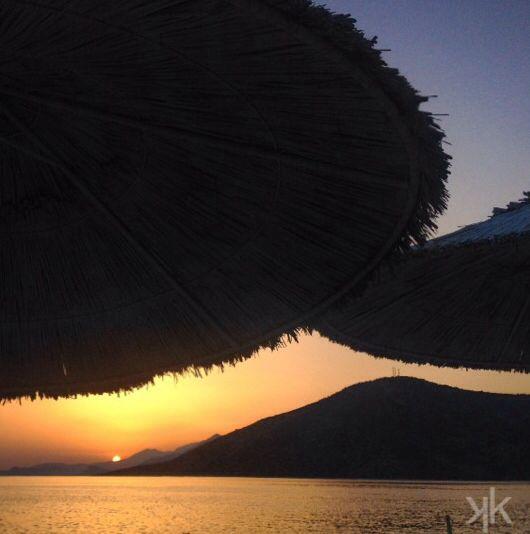 Sunset Psatha , Greece