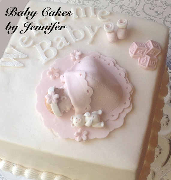Fondant Baby Cake Topper by BabyCakesByJennifer on Etsy, $15.00