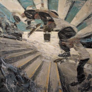 "Saatchi Art Artist Kjetil Jul; Painting, ""Stairs SOLD"" #art"
