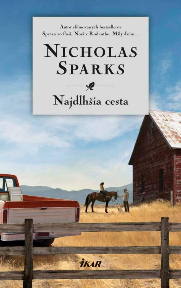 Nový Sparks, ktorý dojme všetkých fanúšikov dobrého čítania: http://www.bux.sk/knihy/206651-najdlhsia-cesta.html