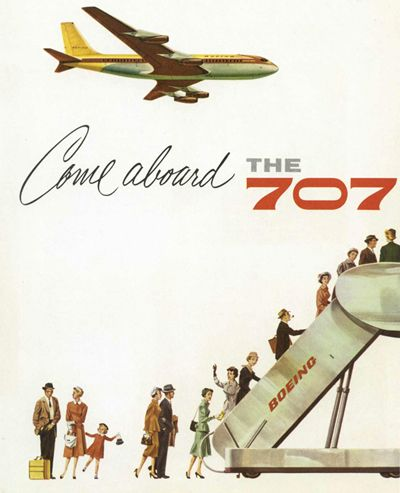 Boeing 707 promo...throwback jetliner