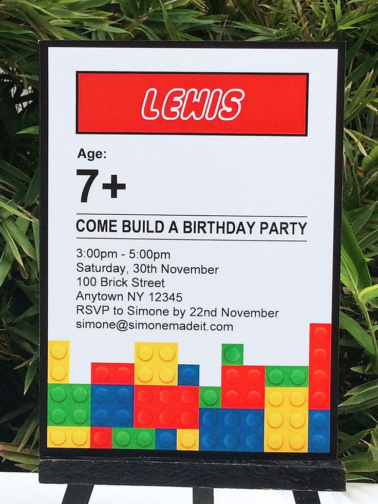Lego Birthday Party Printables Lego, Birthdays and Lego birthday - free template for birthday invitation