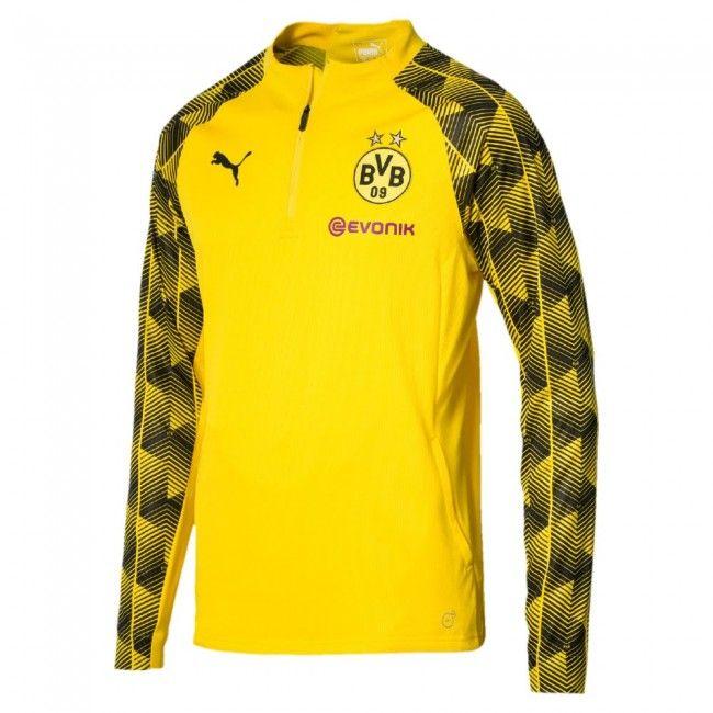 Borussia Dortmund 1/4 Zip Training Top - Yellow 2018 2019
