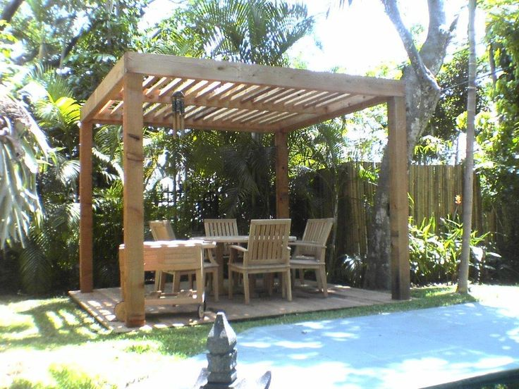 Wooden Patio Swing