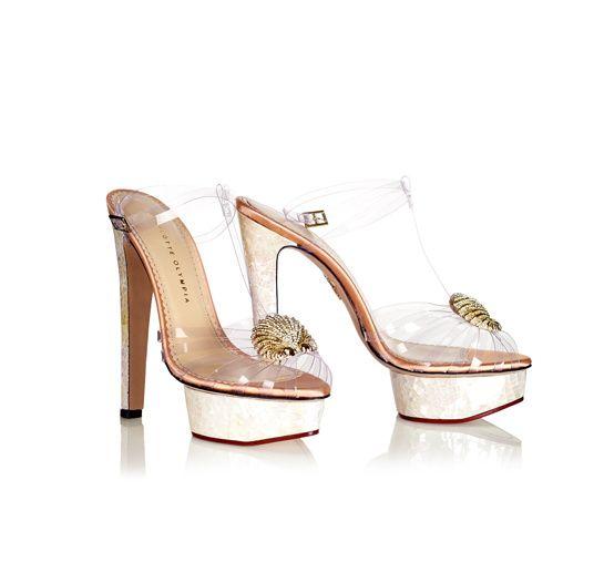 seashell heels / Charlotte Olympia