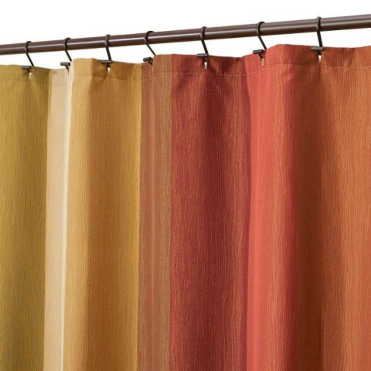 Target Threshold Striped Shower Curtain 72x72 Brown Rust Nwop Threshold Earth Tones