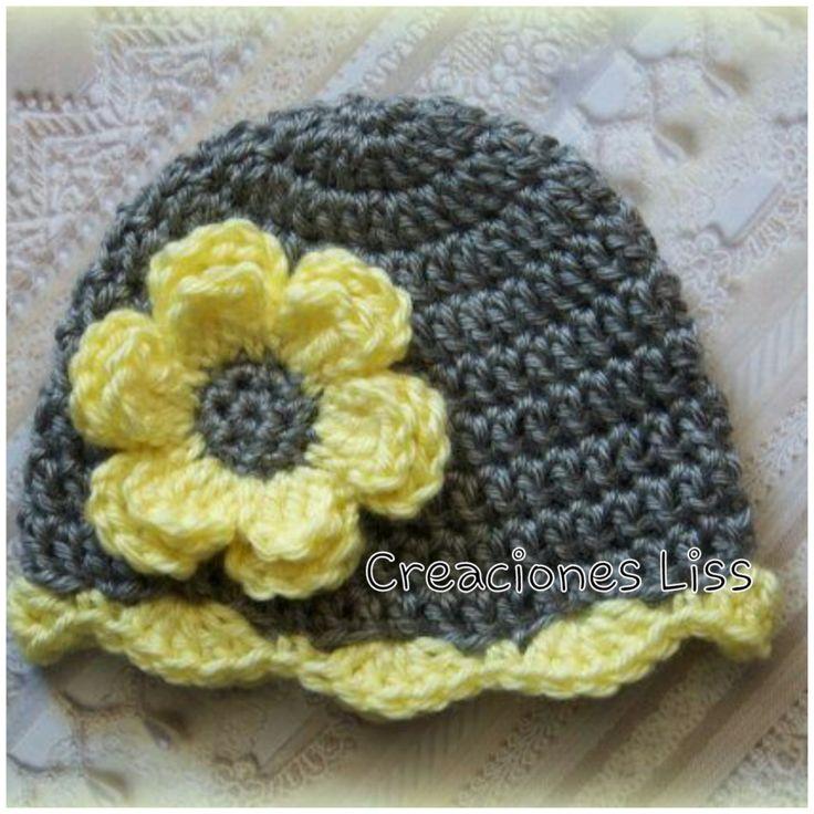 Crochet baby hat, gorro para bebé, beanie de StylesbyLiss en Etsy