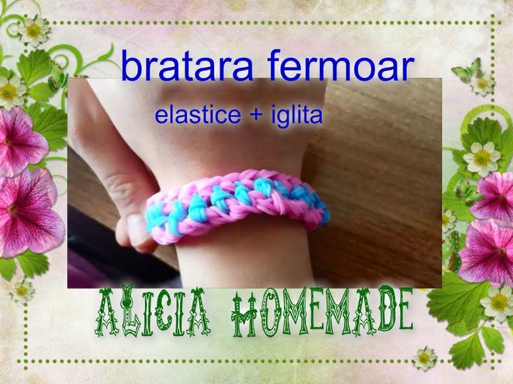 Bratara elastice , usor de facut, bratara din gumite facute de Alicia Homemade.