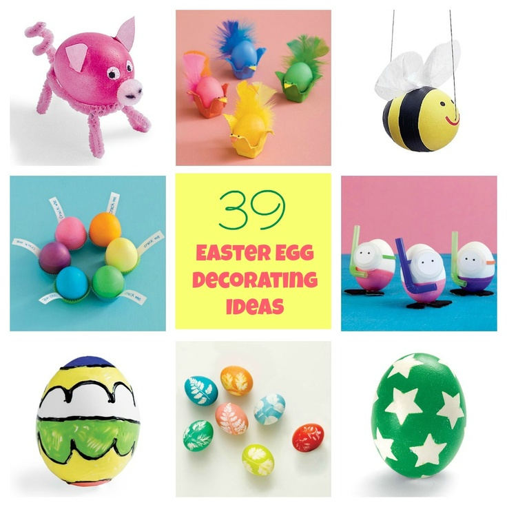 Hunt for Easter Egg Decorating Ideas - A collection of Easter egg decorating ideas that kids will love.