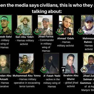 Hamas is knowingly and purposefully distributing false information about the casualties in their violent protest. Below are 10 of the rioters killed while carrying out acts of violence against Israelis.  #StopTheStorm