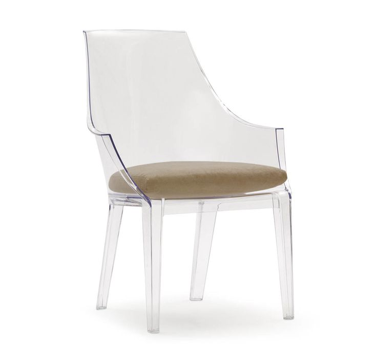 CLAIR CLEAR CHAIR WITH CUSHION,