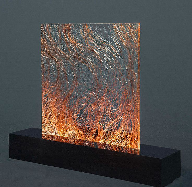 Copper Cotton in acrylic sheet