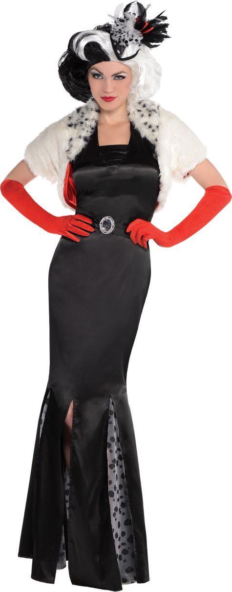 adult cruella de vil costume couture 101 dalmatians. Black Bedroom Furniture Sets. Home Design Ideas