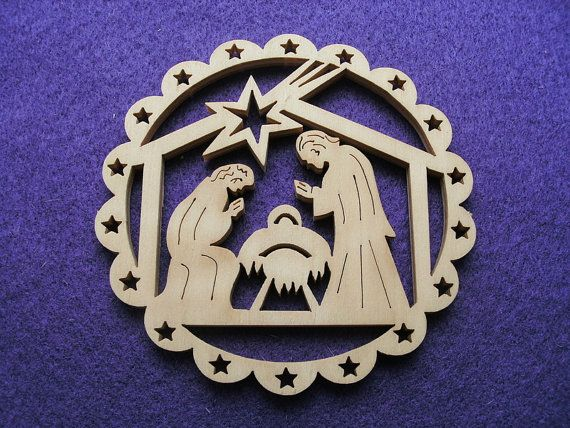 1 Christmas Remolque 8 cm de madera 24-0027A por SowaKreativ