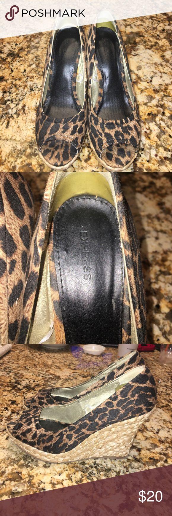 Express Leopard Espadrilles Sz 8 Express Leopard Espadrilles Sz 8 Express Shoes Espadrilles
