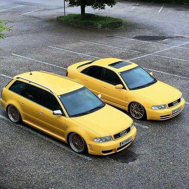IMOLA Gelb Audi RS4 B5 Avand and Audi S4 B5 Limousine