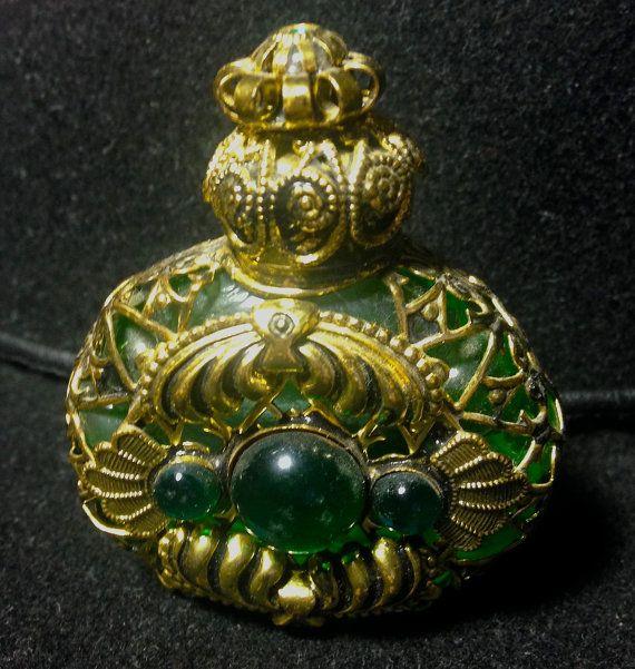 Ormo Czech Bohemian Gold Tone Filigree Miniature