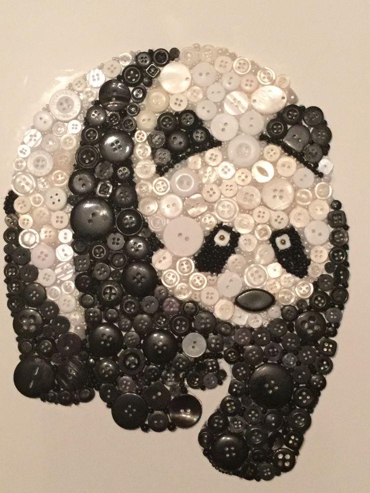 Panda button art