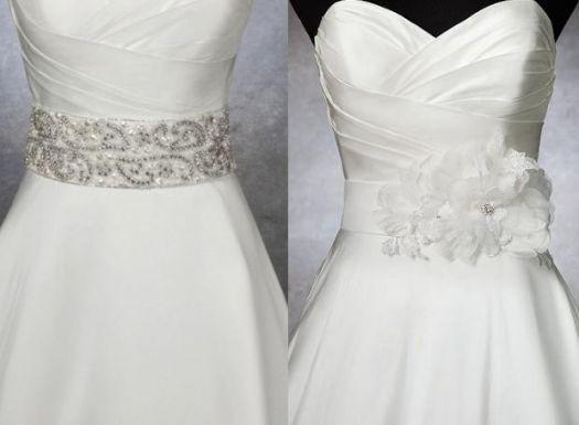 Elegantes cinturones para el vestido de novia [Fotos]