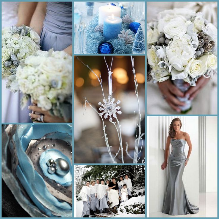 4 Of The Best White Winter Wedding Themes Wedding Ideas: Wedding Colours! Images On