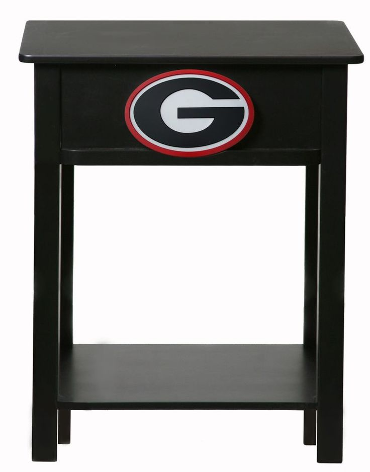 UGA Georgia Bulldogs Painted Wood End Table / Night Stand #GeorgiaBulldogs