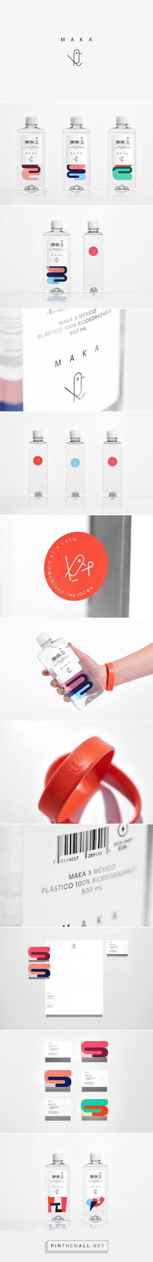 Maka drinking water packaging design by Anagrama - https://www.packagingoftheworld.com/2018/03/maka.html