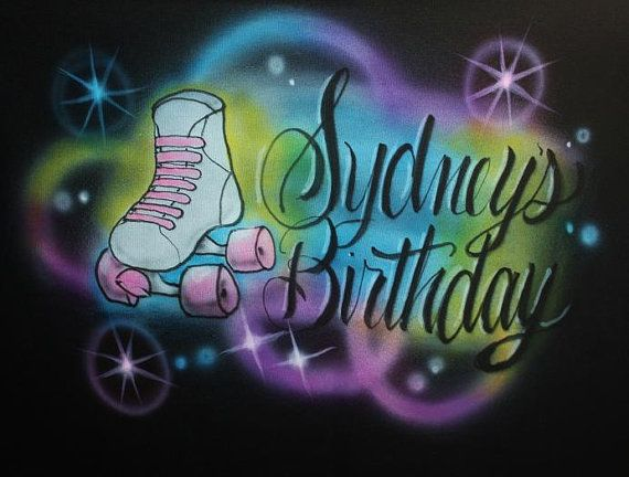 Personalized Girls Youth Adult / Toddler Roller by EternalAirbrush