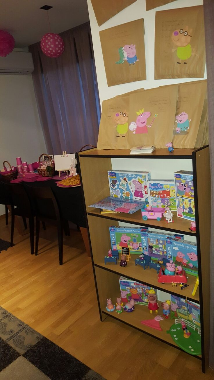 Peppa pig birthday party decoration gift bags & toys