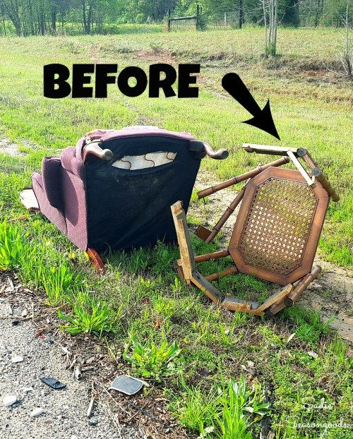 Holy moly, you have GOT to see this transformation! She found broken furniture on the side of the highway...and took one of them home. The repurpose / upcycle is GENIUS...I didn't see this coming, but it is perfect and I love it! Amazing trash to treasure DIY project from Sadie Seasongoods / www.sadieseasongoods.com